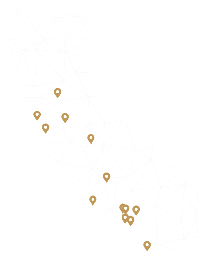 Map of All 13 office Locations in California